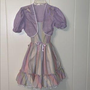 Vtg Martha's Miniatures pastel dress/shrug jacket